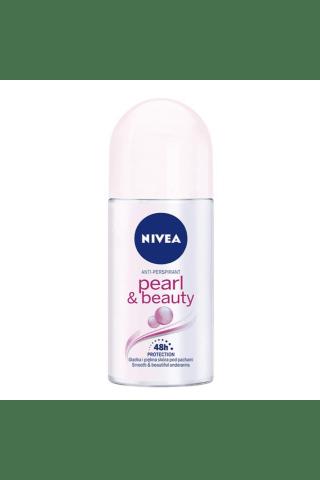 Moteriškas rutulinis dezodorantas NIVEA PEARL&BEAUTY, 50 ml