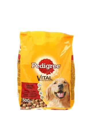 Sausas šunų ėdalas su jautiena ir vištiena PEDIGREE, 500 g
