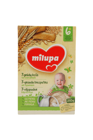 Pieninė košė su sausainiais MILUPA nuo 6 mėn., 250 g