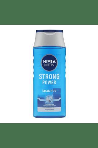 Vyrų šampūnas normaliems plaukams NIVEA MEN STRONG POWER, 0,25 l