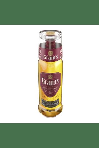 Viskijs W.Grant's ar glāzi 40% 0.7l