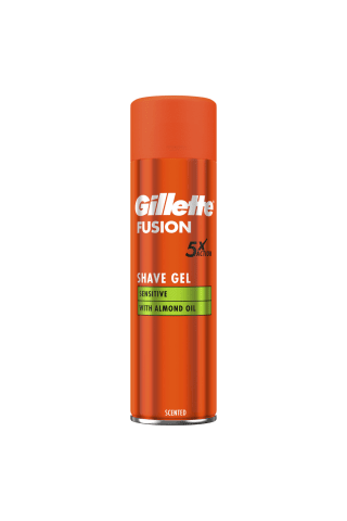 Skutimosi želė GILLETTE FUSION SENSITIVE, 200 ml