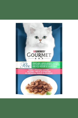 Kompleksa barība pieaugušiem kaķiem Gourmet perle foreles, spinātu 85g