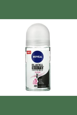 Moteriškas rutulinis antiperspirantas NIVEA INVISIBLE for BLACK&WHITE, 50 ml