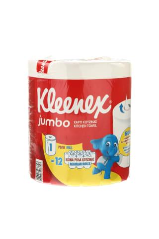 Popieriniai rankšluosčiai KLEENEX JUMBO,1 vnt., 600 lapelių