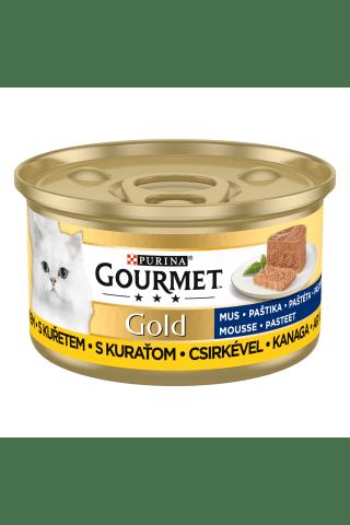 Kompleksa barība pieaugušiem kaķiem. Gourmet gold vistas 85g