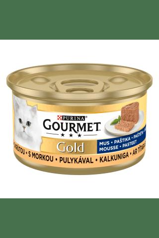 Kompleksa barība mājas pieaugušiem kaķiem Gourmet gold tītara 85g