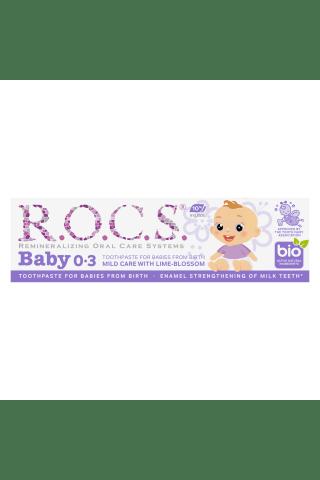 Vaikams dantų pasta su liepžiedžiais R.O.C.S 0-3m.,35ml