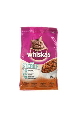 Sausas kačių ėdalas sterilizuotom katėms WHISKAS 1+,300 g