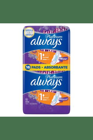 Kvepiantys higieniniai paketai ALWAYS PLATINUM ULTRA NORMAL PLUS, 16 vnt