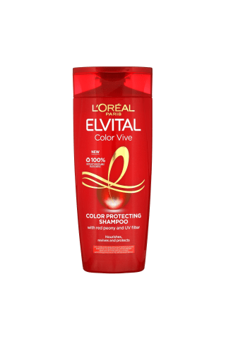 Šampūnas dažytiems bei sruoGelėmis dažytiems plaukams L'OREAL PARIS ELVITAL COLOR-Vive, 0,25 l