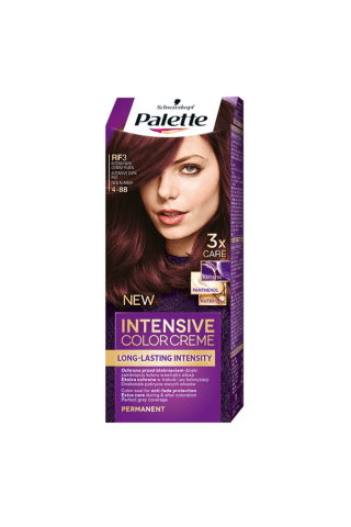 Matu krāsa Palette rf3 intensīvi tumši sarkans
