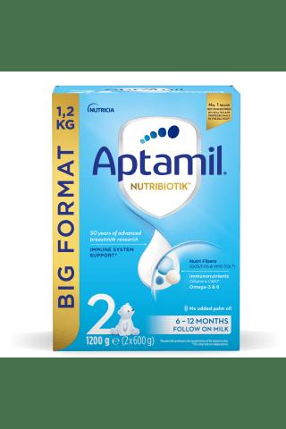 Piena maisījums Aptamil 2 no 6 mēnešiem 1.2kg