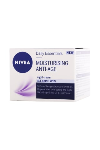 Naktinis veido kremas NIVEA Anti-wrinkle, 50 ml