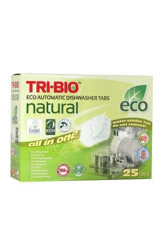 Ekologiškos tabletės indaplovėms TRI-BIO, 25 vnt.