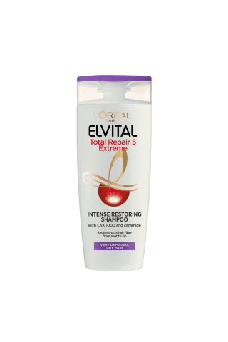 Plaukų šampūnas ELVITAL TOTAL REPAIR EXTREME, 250 ml