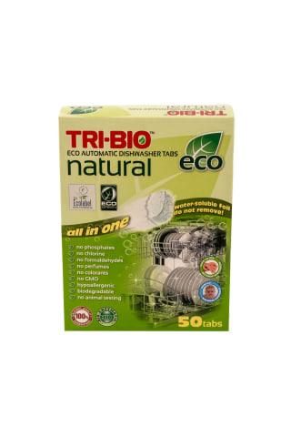 Ekologiškos tabletės indaplovėms TRI-BIO, 50 vnt.