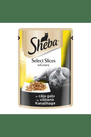 Kačių ėdalas su vištiena SHEBA, 85 g