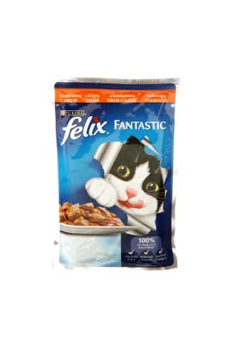 Pilnvērtīga barība pieaugušiem kaķiem Felix ar tītara gaļu 100g