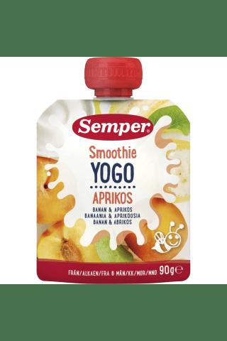 Geriamasis jogurtas su abrikosais SEMPER, 6 mėn, 90 g