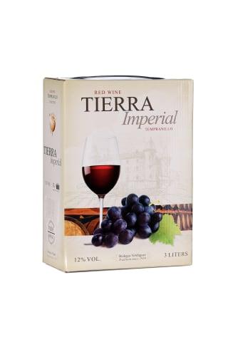 Sarkanvīns Tierra Imperial tempranillo Castilla-La Mancha sausais 12% 3l