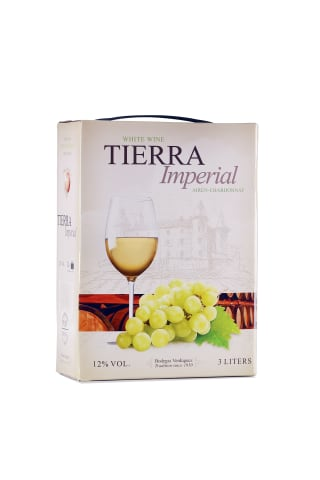 Baltvīns Tierra Imperial Airén-chardonnay sausais 12% 3l
