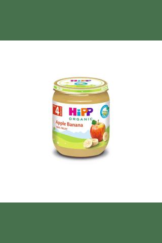 Ekologiška obuolių ir bananų tyrelė HIPP, nuo 4 mėn., 125 g