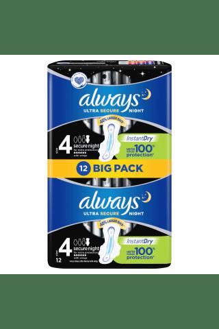Higieniniai paketai ALWAYS ULTRA EXTRA NIGHT, 12 vnt
