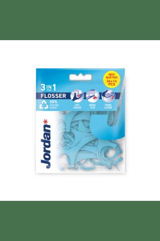 Dantų krapštukas su siūlu JORDAN 3IN1 FLOSSER, 36 vnt