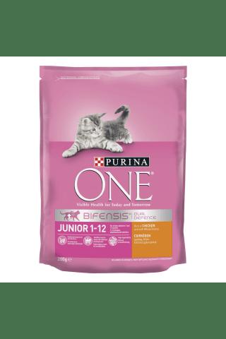 Kaķu barība Purina One Junior vistas rīsu 200g