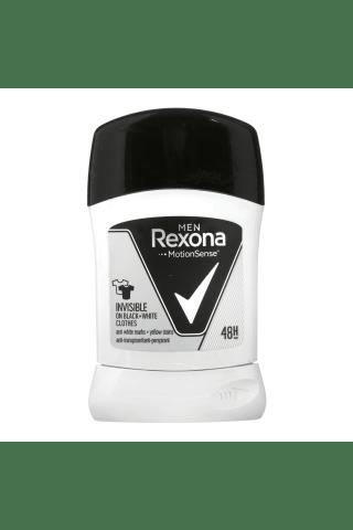 Vyriškas pieštukinis dezodorantas REXONA INVISIBLE Black & White, 50 ml