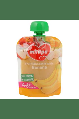 Biezenis Milupa ābolu banānu no 4mēn. 80g
