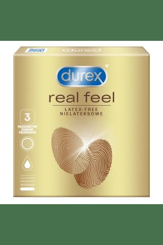 Prezervatyvai DUREX REAL FEEL N3