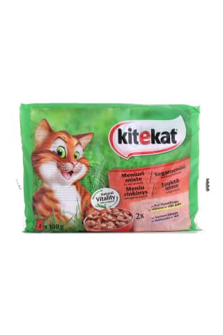 Kaķu konservi Kitekat asorti farm 400g
