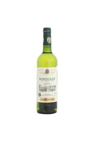 Baltvīns Comte Dumas Bordeaux Sauvignon, Semillon Bordeaux sausais 12,5% 0,75l