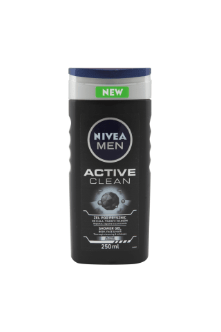 Vyriška dušo želė NIVEA MEN ACTIVE CLEAN, 250 ml