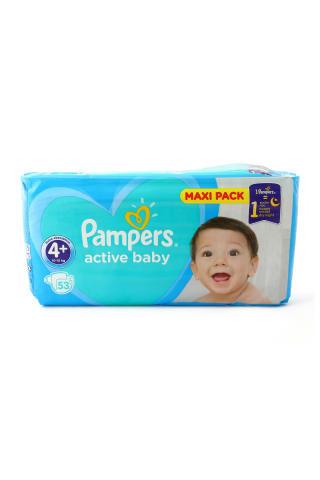 Autiņbiksītes Pampers active baby S4+ VPP 53gab