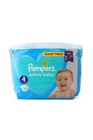 Autiņb. Pampers Active baby s4 gp 76gab
