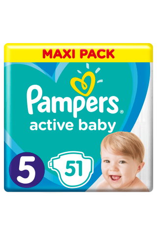 Sauskelnės PAMPERS ACTIVE BABY VP+ (5) 11-18 kg, 50 vnt.