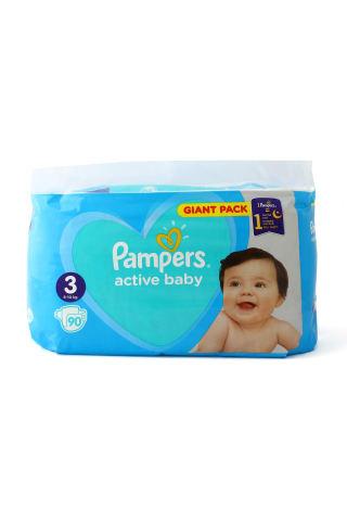 Autiņbiksītes Pampers active baby S3 GP 90gab