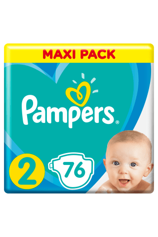 Sauskelnės PAMPERS NEW BABY VP+ (2) 3-6 kg, 76 vnt.