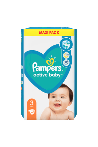 Sauskelnės PAMPERS ACTIVE BABY VP+ (3) 4-9 kg, 68 vnt.