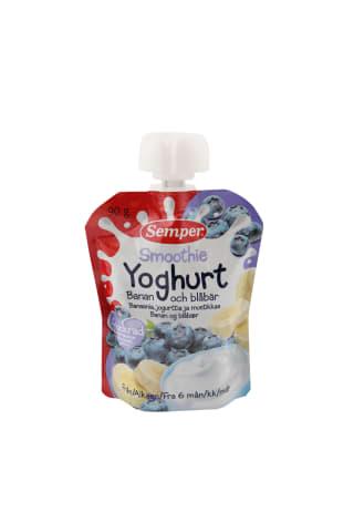 Semper smoothie jogurta - banānu un melleņu, no 6 mēn, 90g