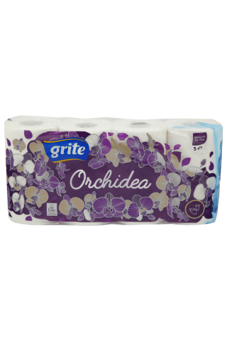 Tualetes papīrs Grite orchidea gold 8 ruļļi 3kārtas