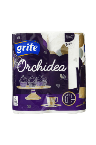 Popieriniai rankšluoščiai GRITE ORCHIDEA GOLD, 3 sluoksn., 2rit.
