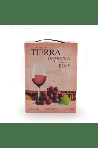 Rozā vīns Tierra Imperial Tempranillo sausais 12% 3l