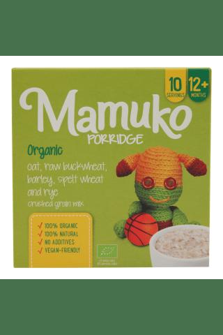 Ekologiški avižų, šviesių grikių, miežių, spelta kviečių ir rugių traiškyti grūdai MAMUKO, nuo 12 mėn., 240 g