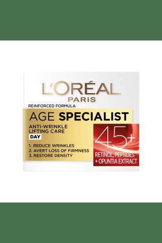 Veido dieninis kremas L`OREAL AGE SPECIALIST 45+,50 ml
