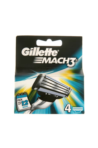 Skutimosi galvutės GILLETTE MACH3, 4 vnt