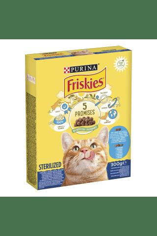 Sausas kačių ėdalas FRISKIES STERILE su lašiša ir daržovėmis, 300 g